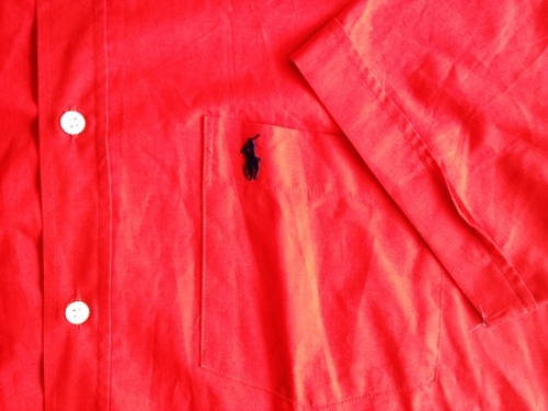 details about ralph lauren hemd herren kurzarm rot unifarben baumwolle. Black Bedroom Furniture Sets. Home Design Ideas