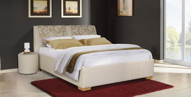 design luxus lounge polsterbett doppelbett futon bett stoff beige sl12 neu ebay. Black Bedroom Furniture Sets. Home Design Ideas