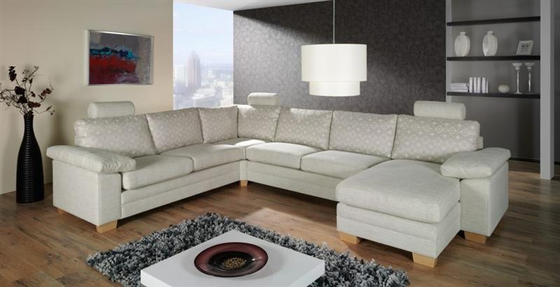 design luxus lounge sofa landschaft couch polster garnitur stoff grau sl04 neu ebay. Black Bedroom Furniture Sets. Home Design Ideas