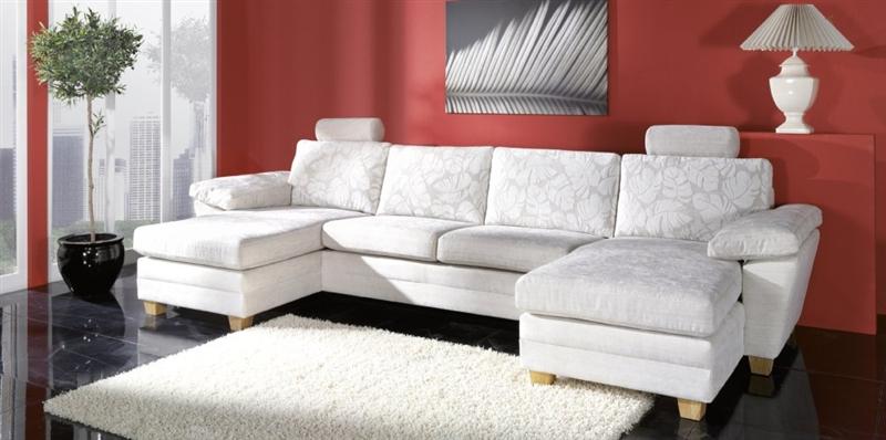 Design Luxus Lounge Sofa Landschaft Couch Polster Garnitur Stoff Grau Sl05 Neu Ebay
