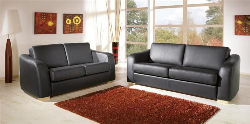Design Luxus Lounge Sofa Landschaft Couch Polster Garnitur Leder Schwarz Sl7 Neu Ebay