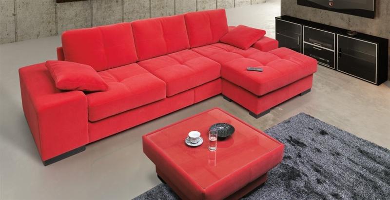 Design Luxus Lounge Sofa Landschaft Couch Polster Garnitur Stoff Rot Sl11 Neu Ebay