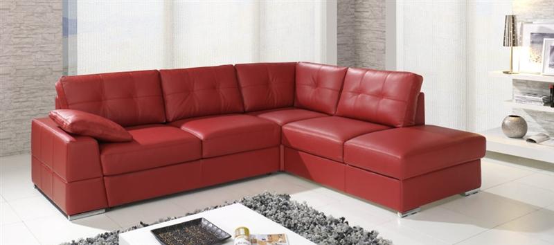 design luxus lounge sofa landschaft couch polster garnitur leder rot sl13 neu ebay. Black Bedroom Furniture Sets. Home Design Ideas