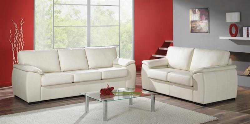 Design Luxus Lounge Sofa Landschaft Couch Polster Garnitur Leder Wei Sl14 Neu Ebay
