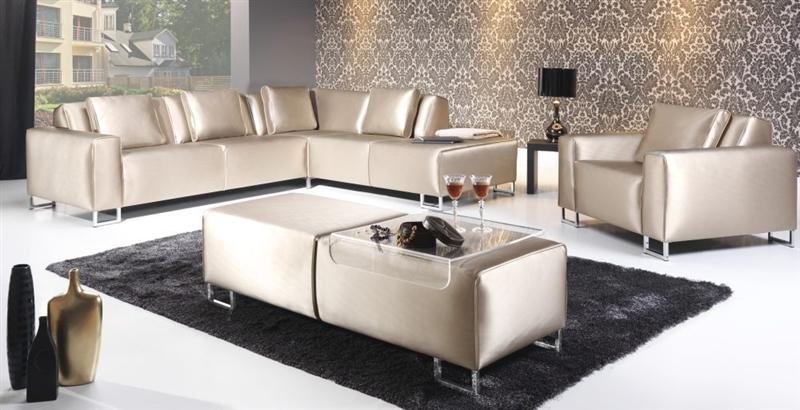 Design Luxus Lounge Sofa Landschaft Couch Polster Garnitur Satin Silber Sl17 Neu Ebay