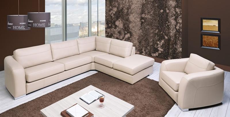 Design Luxus Lounge Sofa Landschaft Couch Polster Garnitur Leder Beige Sl18 Neu Ebay