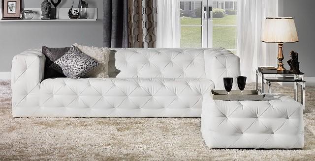 Design Luxus Lounge Sofa Landschaft Couch Polster Garnitur Leder Wei Sl25 Neu Ebay