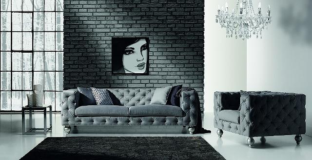 Design Luxus Lounge Sofa Landschaft Couch Polster Garnitur Leder Grau Sl28 Neu Ebay