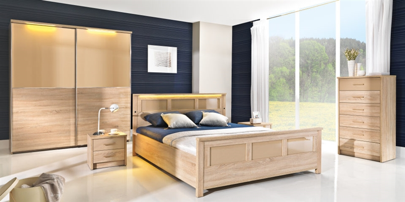 design luxus schlafzimmer set stilm bel edelholz komplett eiche sl07 neu ebay. Black Bedroom Furniture Sets. Home Design Ideas