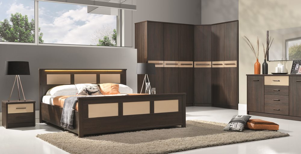 design luxus schlafzimmer set stilm bel edelholz komplett dunkelbraun sl31 neu ebay. Black Bedroom Furniture Sets. Home Design Ideas