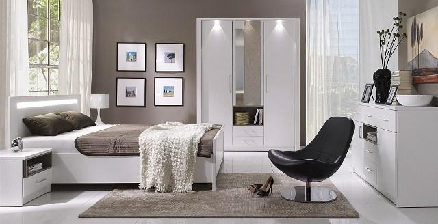 Design Luxus Schlafzimmer Set Stilmöbel Edelholz Komplett Weiß SL37 NEU!